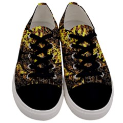 The Background Wallpaper Gold Men s Low Top Canvas Sneakers