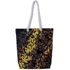 The Background Wallpaper Gold Full Print Rope Handle Tote (small)