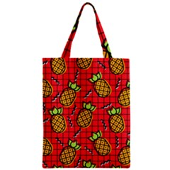 Fruit Pineapple Red Yellow Green Zipper Classic Tote Bag by Alisyart