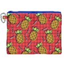 Fruit Pineapple Red Yellow Green Canvas Cosmetic Bag (XXL) View1