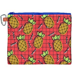 Fruit Pineapple Red Yellow Green Canvas Cosmetic Bag (xxxl)