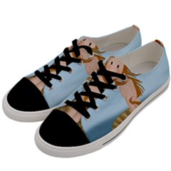 The Birth Of Venus Men s Low Top Canvas Sneakers by Valentinaart
