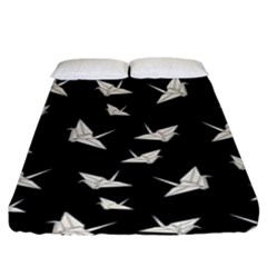 Paper Cranes Pattern Fitted Sheet (king Size) by Valentinaart
