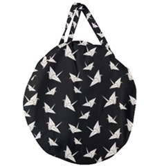 Paper Cranes Pattern Giant Round Zipper Tote by Valentinaart
