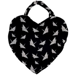Paper Cranes Pattern Giant Heart Shaped Tote
