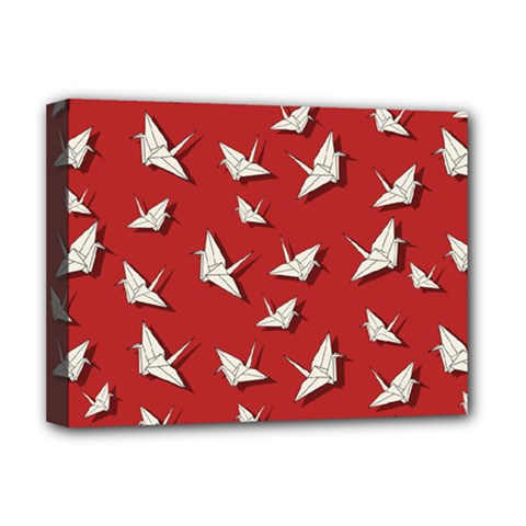 Paper Cranes Pattern Deluxe Canvas 16  X 12