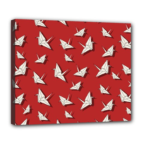 Paper Cranes Pattern Deluxe Canvas 24  X 20