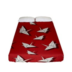 Paper Cranes Pattern Fitted Sheet (full/ Double Size)