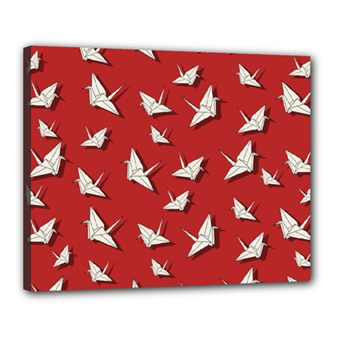Paper Cranes Pattern Canvas 20  X 16