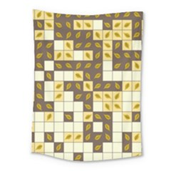 Autumn Leaves Pattern Medium Tapestry by linceazul