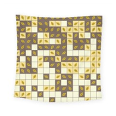 Autumn Leaves Pattern Square Tapestry (small) by linceazul