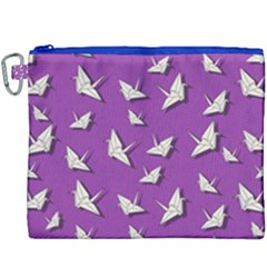 Paper Cranes Pattern Canvas Cosmetic Bag (xxxl) by Valentinaart