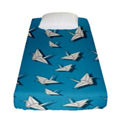 Paper Cranes Pattern Fitted Sheet (single Size) by Valentinaart