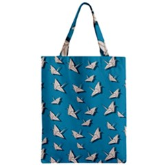Paper Cranes Pattern Zipper Classic Tote Bag by Valentinaart