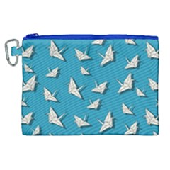 Paper Cranes Pattern Canvas Cosmetic Bag (xl)
