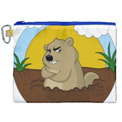 Groundhog Day Canvas Cosmetic Bag (xxl)