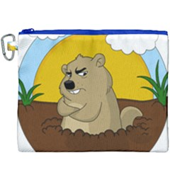 Groundhog Day Canvas Cosmetic Bag (xxxl) by Valentinaart