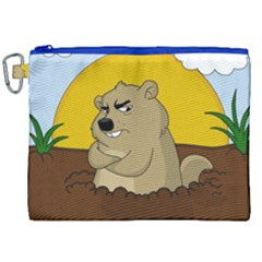Groundhog Day Canvas Cosmetic Bag (xxl) by Valentinaart
