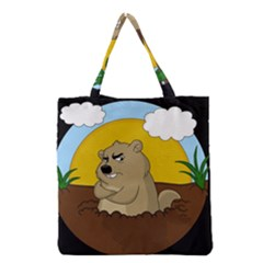 Groundhog Day Grocery Tote Bag by Valentinaart