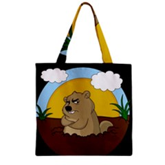 Groundhog Day Zipper Grocery Tote Bag by Valentinaart