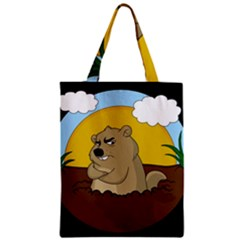 Groundhog Day Zipper Classic Tote Bag by Valentinaart