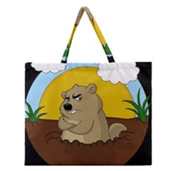 Groundhog Day Zipper Large Tote Bag by Valentinaart