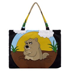 Groundhog Day Zipper Medium Tote Bag by Valentinaart