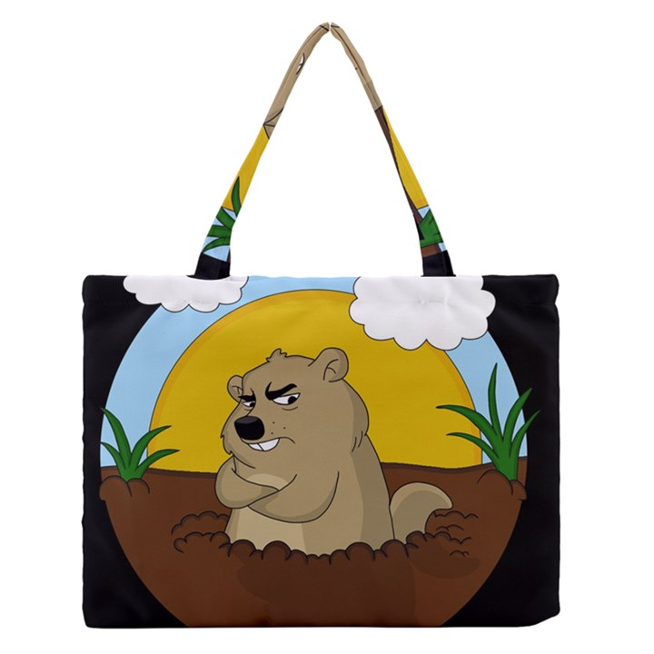 Groundhog day Zipper Medium Tote Bag
