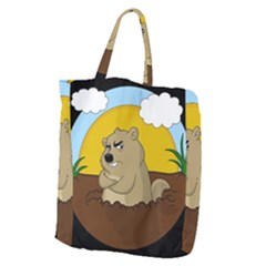 Groundhog Day Giant Grocery Zipper Tote by Valentinaart