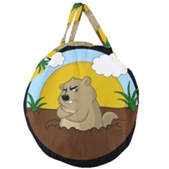 Groundhog Day Giant Round Zipper Tote by Valentinaart