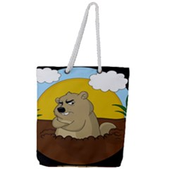 Groundhog Day Full Print Rope Handle Tote (large) by Valentinaart