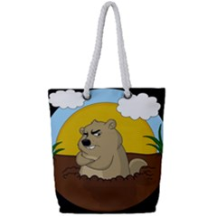 Groundhog Day Full Print Rope Handle Tote (small) by Valentinaart