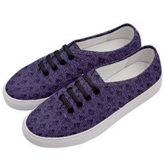 Color Of The Year 2018   Ultraviolet   Art Deco Black Edition Women s Classic Low Top Sneakers by tarastyle
