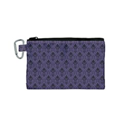 Color Of The Year 2018   Ultraviolet   Art Deco Black Edition Canvas Cosmetic Bag (small) by tarastyle