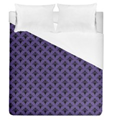 Color Of The Year 2018   Ultraviolet   Art Deco Black Edition  Duvet Cover (queen Size) by tarastyle