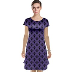 Color Of The Year 2018   Ultraviolet   Art Deco Black Edition  Cap Sleeve Nightdress