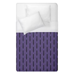 Color Of The Year 2018   Ultraviolet   Art Deco Black Edition Duvet Cover (single Size) by tarastyle