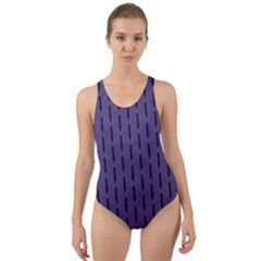 Color Of The Year 2018   Ultraviolet   Art Deco Black Edition Cut Out Back One Piece Swimsuit by tarastyle