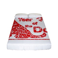 Year Of The Dog   Chinese New Year Fitted Sheet (full/ Double Size) by Valentinaart