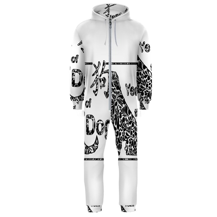 Year of the Dog - Chinese New Year Hooded Jumpsuit (Men)