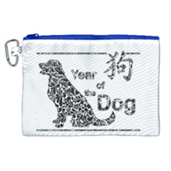 Year Of The Dog - Chinese New Year Canvas Cosmetic Bag (xl)