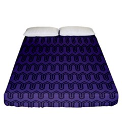 Color Of The Year 2018   Ultraviolet   Art Deco Black Edition Fitted Sheet (california King Size) by tarastyle