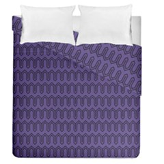 Color Of The Year 2018 - Ultraviolet - Art Deco Black Edition Duvet Cover Double Side (queen Size) by tarastyle