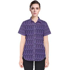 Color Of The Year 2018   Ultraviolet   Art Deco Black Edition Women s Short Sleeve Shirt
