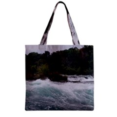 Sightseeing At Niagara Falls Grocery Tote Bag by canvasngiftshop