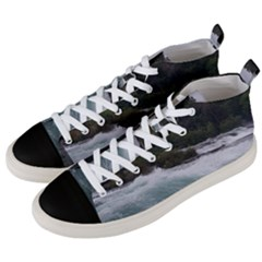 Sightseeing At Niagara Falls Men s Mid Top Canvas Sneakers by canvasngiftshop