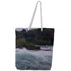 Sightseeing At Niagara Falls Full Print Rope Handle Tote (large) by canvasngiftshop
