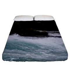 Sightseeing At Niagara Falls Fitted Sheet (king Size)