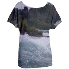 Sightseeing At Niagara Falls Women s Oversized Tee by canvasngiftshop
