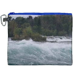 Sightseeing At Niagara Falls Canvas Cosmetic Bag (xxxl) by canvasngiftshop